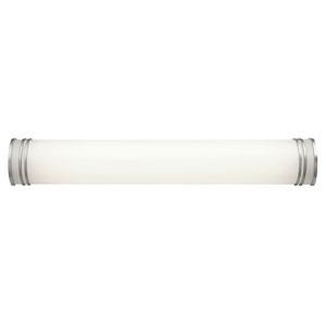 White 36-Inch Two-Light Fluorescent Bath Vanity Fixture