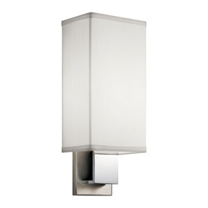 Santiago Brushed Nickel and Chrome One-Light Fluorescent Wall Bracket