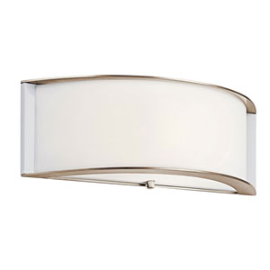 Arcola Polished Nickel One-Light Fluorescent Wall Bracket