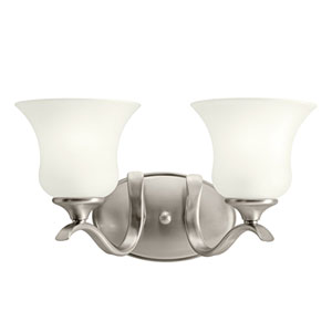 Wedgeport Brushed Nickel Two-Light Bath Light