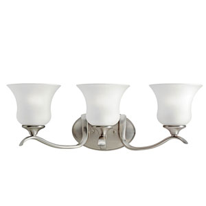 Wedgeport Brushed Nickel Three-Light Bath Light