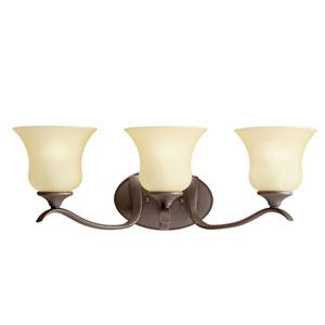 Wedgeport Olde Bronze Three-Light Bath Light