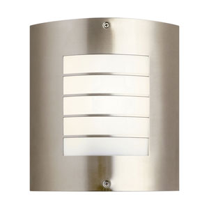 Newport Brushed Nickel Outdoor Fluorescent Wall Lamp