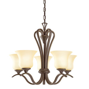 Wedgeport Olde Bronze Five-Light Chandelier