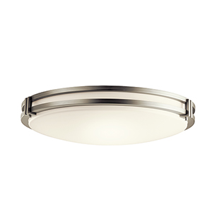 Avon Brushed Nickel 24-Inch LED Flush Mount