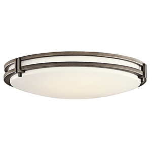 Avon Olde Bronze 24-Inch LED Flush Mount