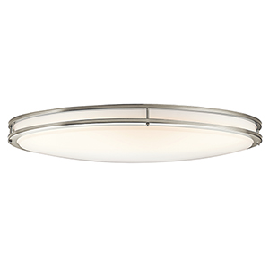 Avon Brushed Nickel 18-Inch LED Flush Mount