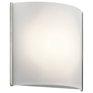 Brushed Nickel 8-Inch Energy Star LED Wall Sconce