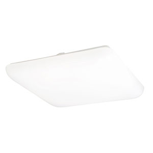 White 19-Inch Fluorescent Flush Mount