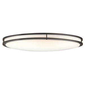 Verve Old Bronze Two-Light Fluorescent Flush Mount