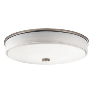 Santiago Brushed Nickel Two-Light Fluorescent Flush Mount