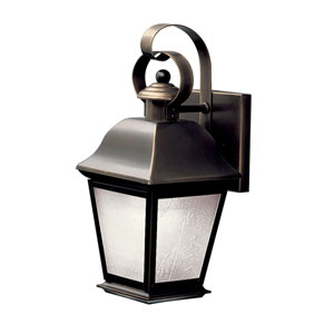 Olde Bronze Fluorescent Outdoor Wall-Mount Lantern