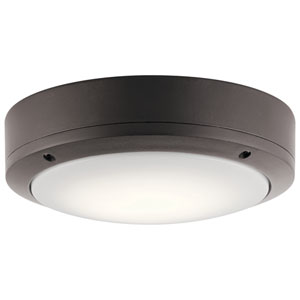 Textured Architectural Bronze 9-Inch Energy Star LED Flush Mount