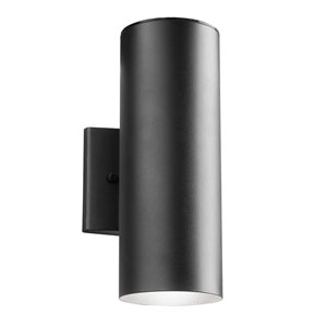 Textured Black One-Light LED Outdoor Wall Mount