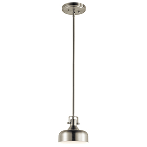Brushed Nickel 7-Inch LED Mini Pendant