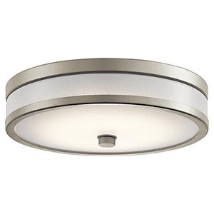 Pira Brushed Nickel 12-Inch LED Flush Mount