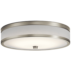Pira Brushed Nickel 15-Inch LED Flush Mount
