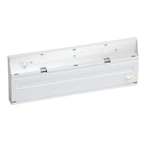 Direct Wire LED White Two-Light Under Cabinet Fixture