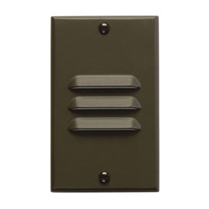 Step and Hall Light Architectural Bronze Vertical Louver LED Step Light