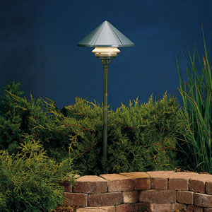 Six Groove Textured Architectural Bronze 9.5-Inch One-Light Landscape Path Light