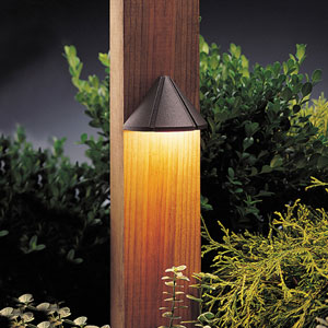 Six Groove Textured Architectural Bronze 4-Inch One-Light Landscape Deck Fixture