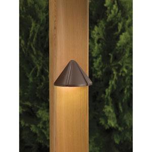 Cast Brass Bronzed Brass 4-Inch One-Light Landscape Deck Fixture
