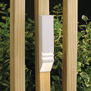 Textured White 6-Inch One-Light Landscape Deck Rail Light