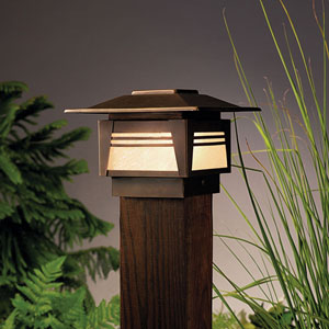 Zen Garden Olde Bronze 7-Inch One-Light Landscape Deck Post
