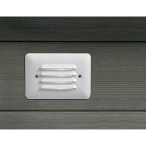Textured White 5-Inch One-Light Step Light