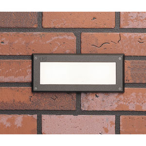 Textured Architectural Bronzen 9.5-Inch Open Step Light