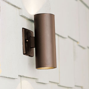 Textured Architectural Bronze Two-Light Up and Down Outdoor Accent Light