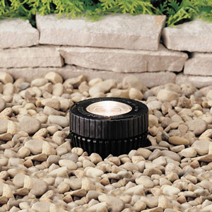 Black 4-Inch One-Light Landscape In-Ground Accent Fixture