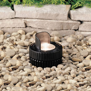 Black 4-Inch One-Light Landscape In-Ground Accent Fixture with Cowl