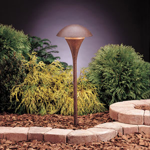 Textured Tannery Bronze Line Voltage One-Light Landscape Path Light