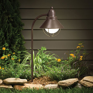 Olde Bronze Line Voltage One-Light Landscape Path Light