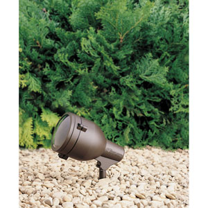 Textured Architectural Bronze Line Voltage One-Light Landscape Accent Light
