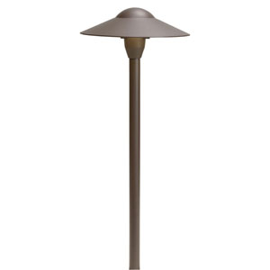 Textured Architectural Bronze 21-Inch One-Light Landscape Path Light