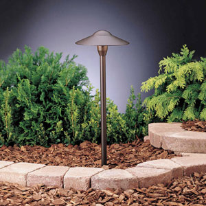 Textured Architectural Bronze 21-Inch One-Light Landscape Path Light, 6 Pack