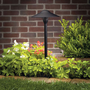 Textured Black 21-Inch One-Light Landscape Path Light