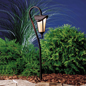 Lafayette Tannery Bronze with Gold Accent 27-Inch One-Light Landscape Path Light