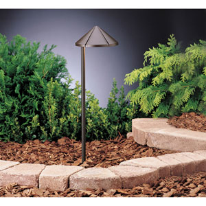Six Groove Textured Architectural Bronze 19.5-Inch One-Light Landscape Path Light