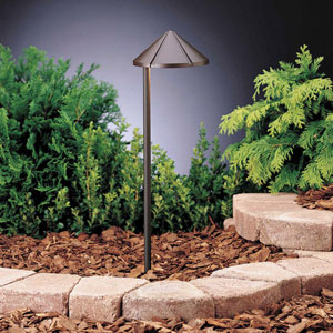 Six Groove Textured Architectural Bronze 20-Inch One-Light Landscape Path Light