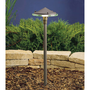 Textured Architectural Bronze 22-Inch One-Light Landscape Path Light
