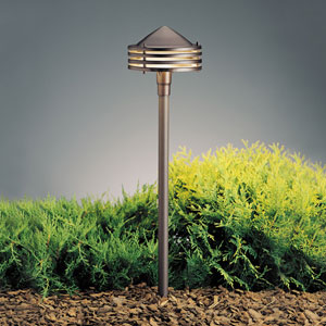Textured Architectural Bronze 23-Inch One-Light Landscape Path Light