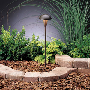 Eclipse Textured Architectural Bronze 18.5-Inch One-Light Landscape Path Light