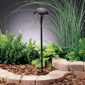 Eclipse Textured Black 18.5-Inch One-Light Landscape Path Light
