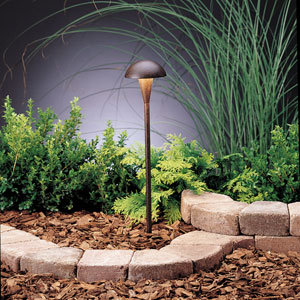 Eclipse Textured Tannery Bronze 18.5-Inch One-Light Landscape Path Light