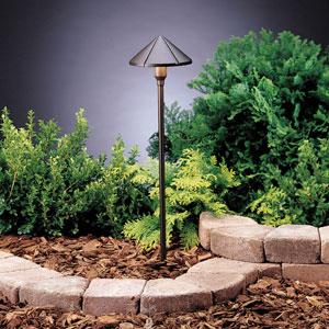 Six Groove Textured Architectural Bronze 23-Inch One-Light Landscape Path Light