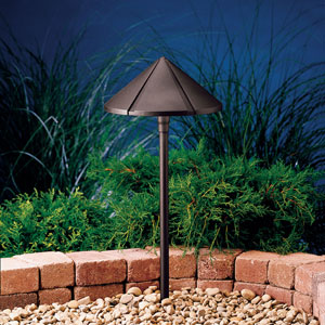 Six Groove Textured Architectural Bronze 24.5-Inch One-Light Landscape Path Light
