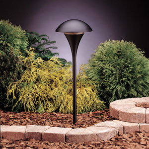 Eclipse Textured Black 25-Inch One-Light Landscape Path Light